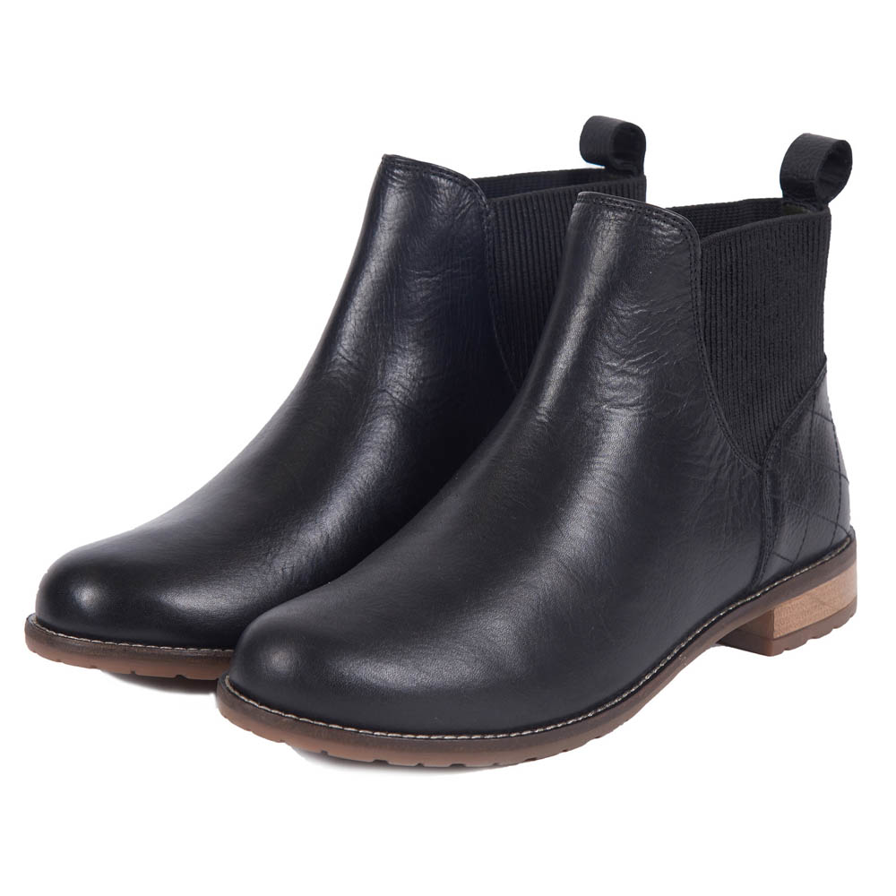 BARBOUR HOPE BLACK CHELSEA BOOTS