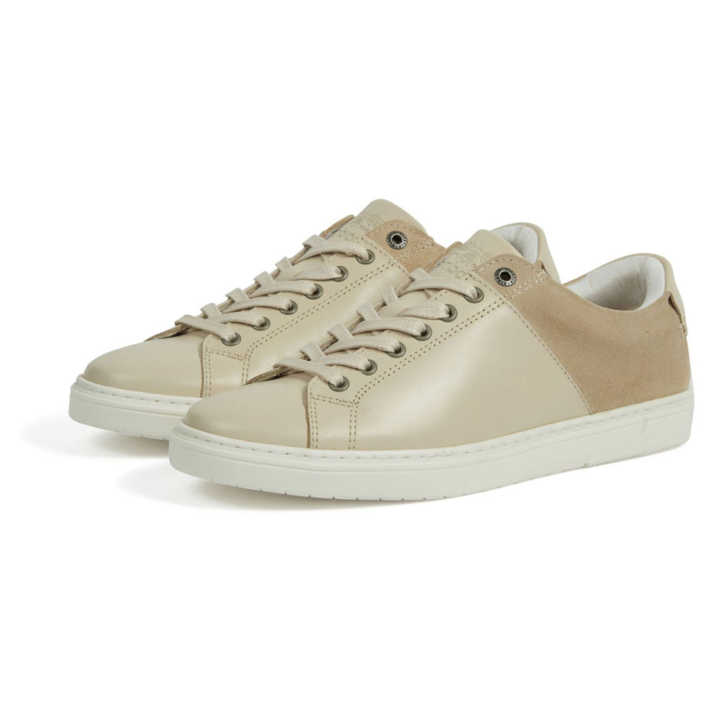 BARBOUR CATLINA BEIGE TRAINERS