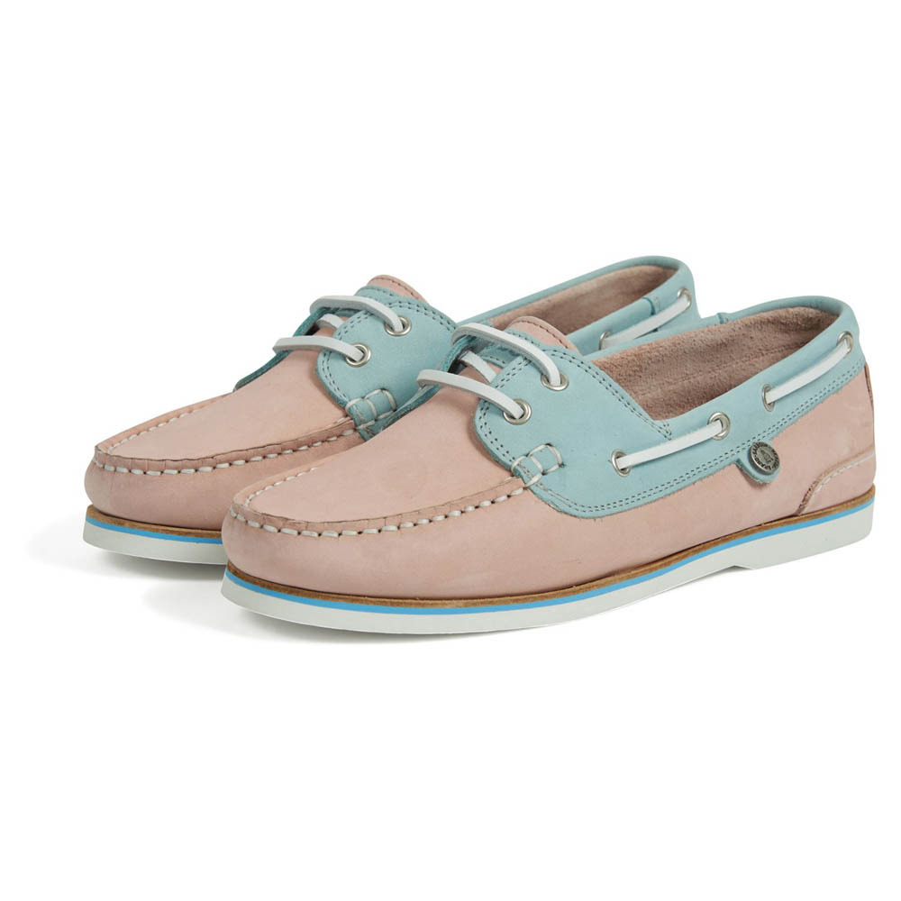 BARBOUR BOWLINE LIGHT PINK BOAT SHOES