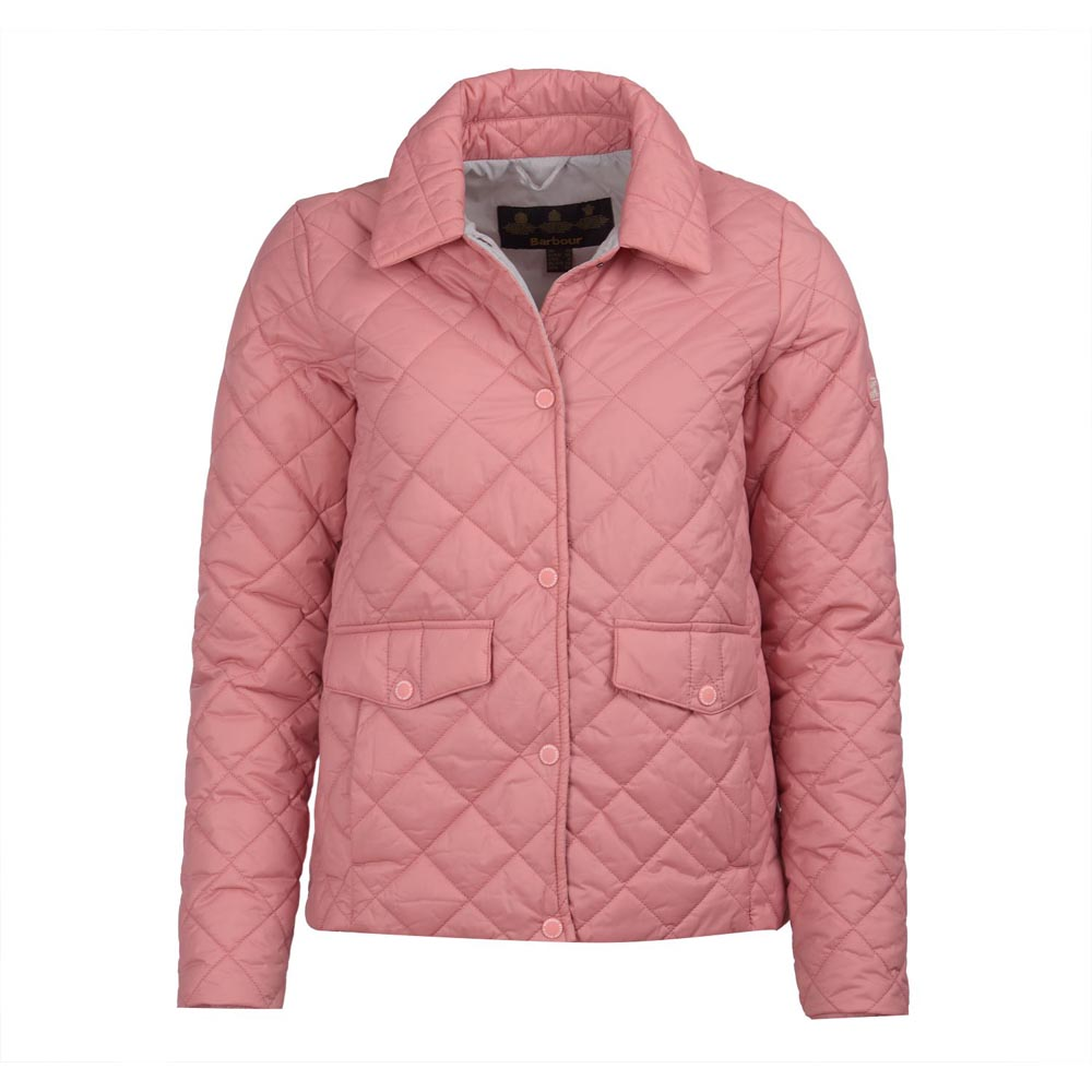 Barbour Overwash Vintage Rose Quilted Jacket
