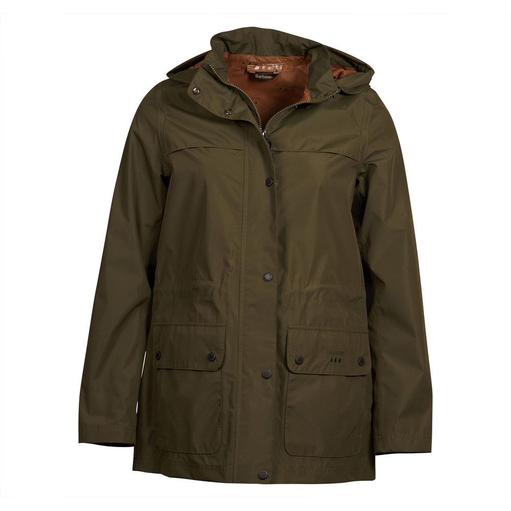 Barbour Drizzel Olive Waterproof Jacket