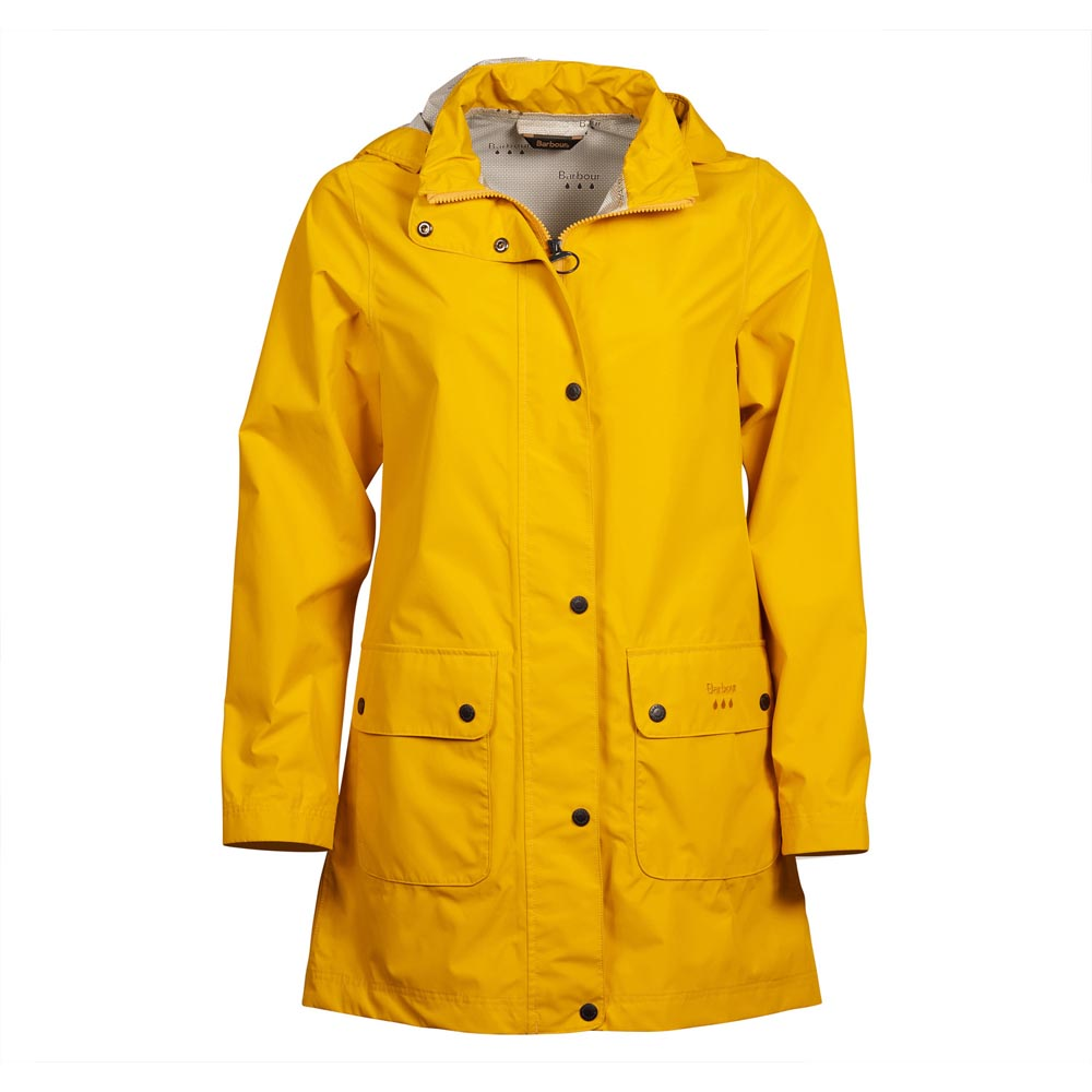 Barbour Inclement Yellow Waterproof Jacket