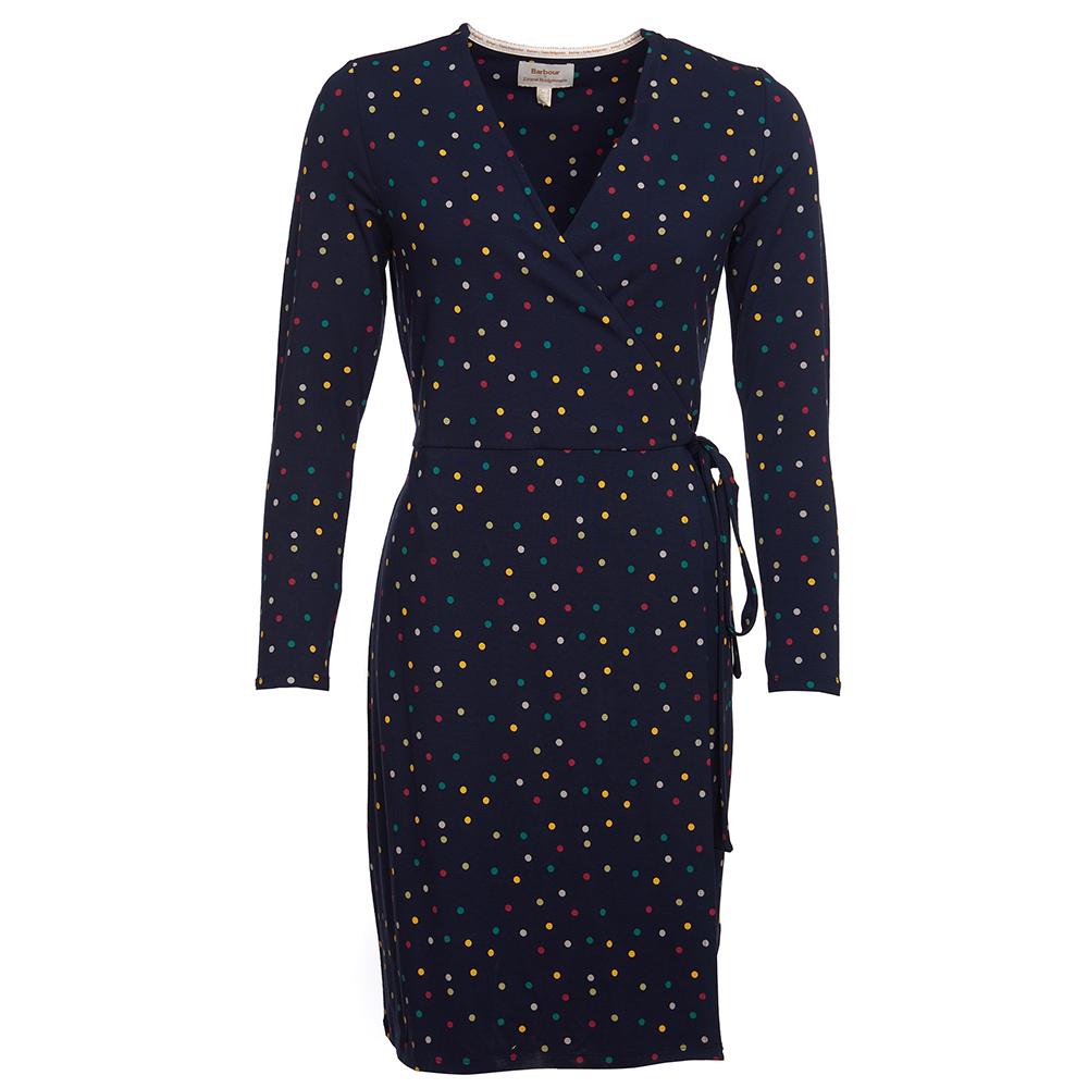 Barbour Emma Bridgewater navy spot dress
