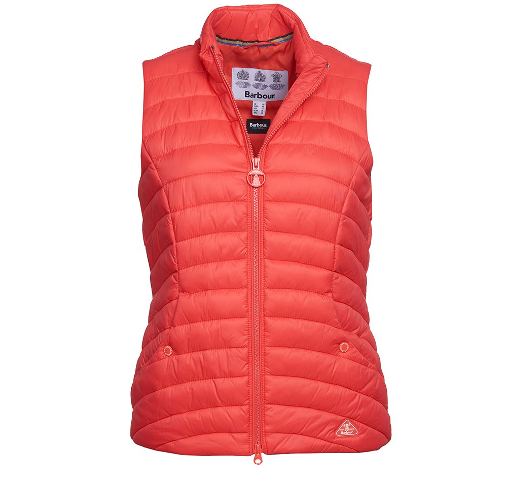 Barbour Shorewood gilet in coral