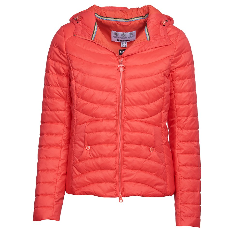 Barbour Ashore quilted jacket in coral