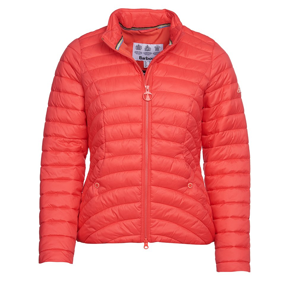 Barbour Shoreward Quilt in coral