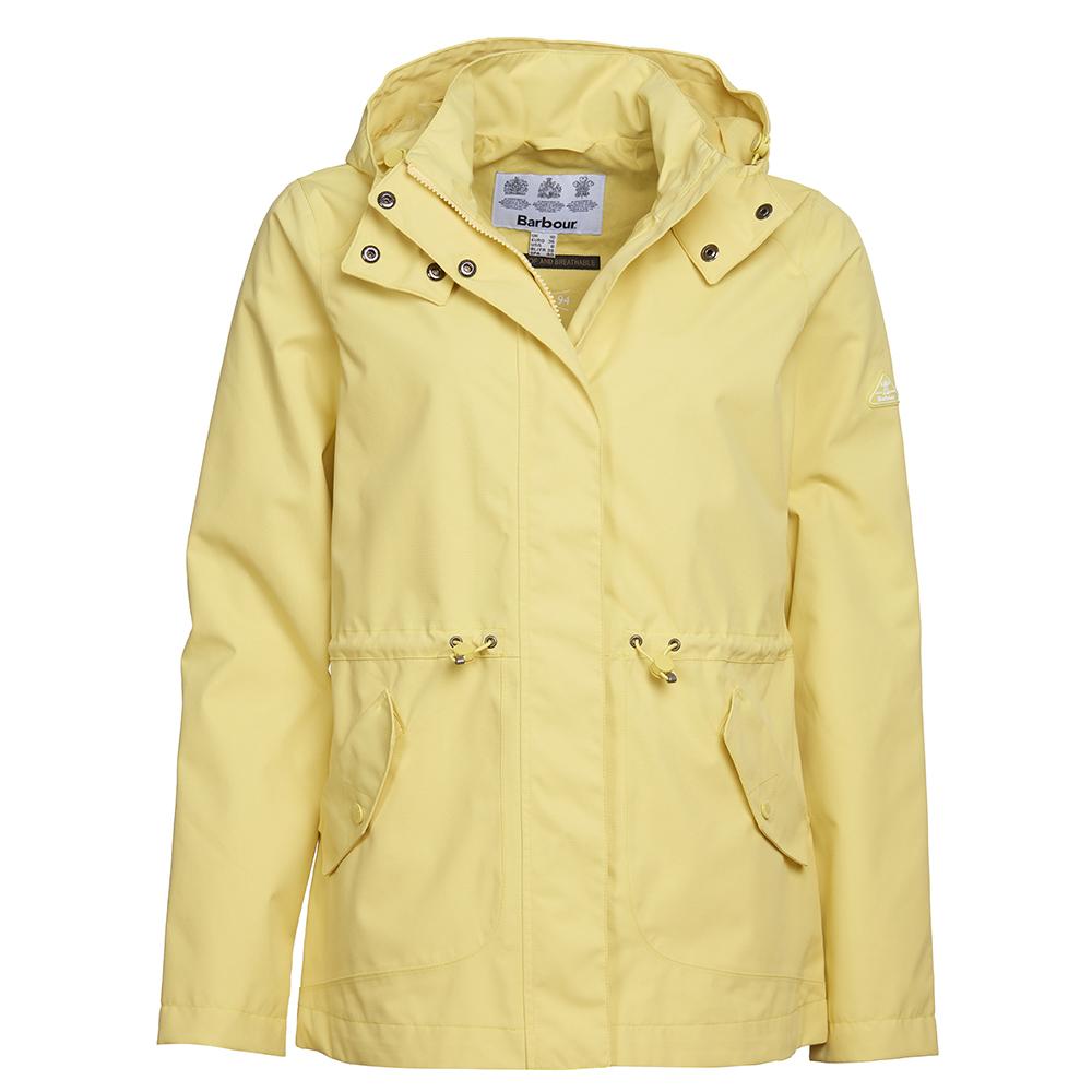 Barbour Pomenade waterproof yellow jacket