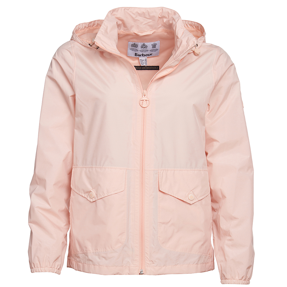 Barbour Overland Jacket in pale coral