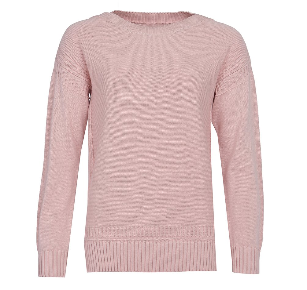 Barbour Sailboat cotton jumper in pale coral