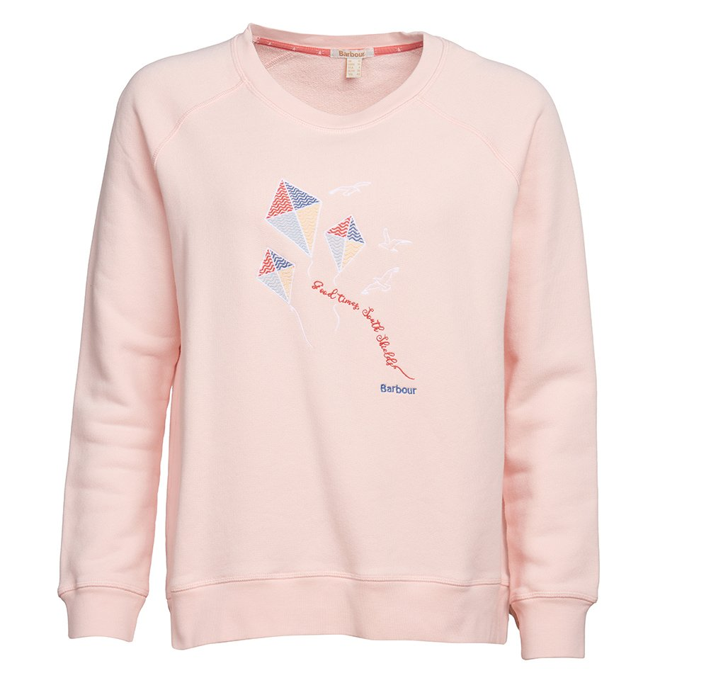 Barbour Promenade sweatshirt in pale coral