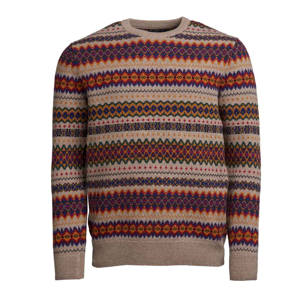 BARBOUR CASE STONE FAIRISLE CREW NECK JUMPER