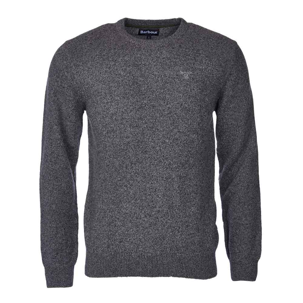 BARBOUR TISBURY GREY CREW NECK SWEATER