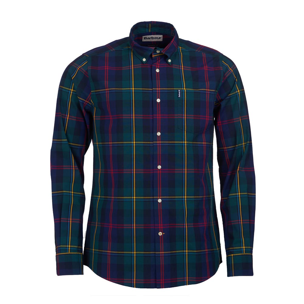 BARBOUR HIGHLAND GREEN CHECK 9 TAILORED SHIRT