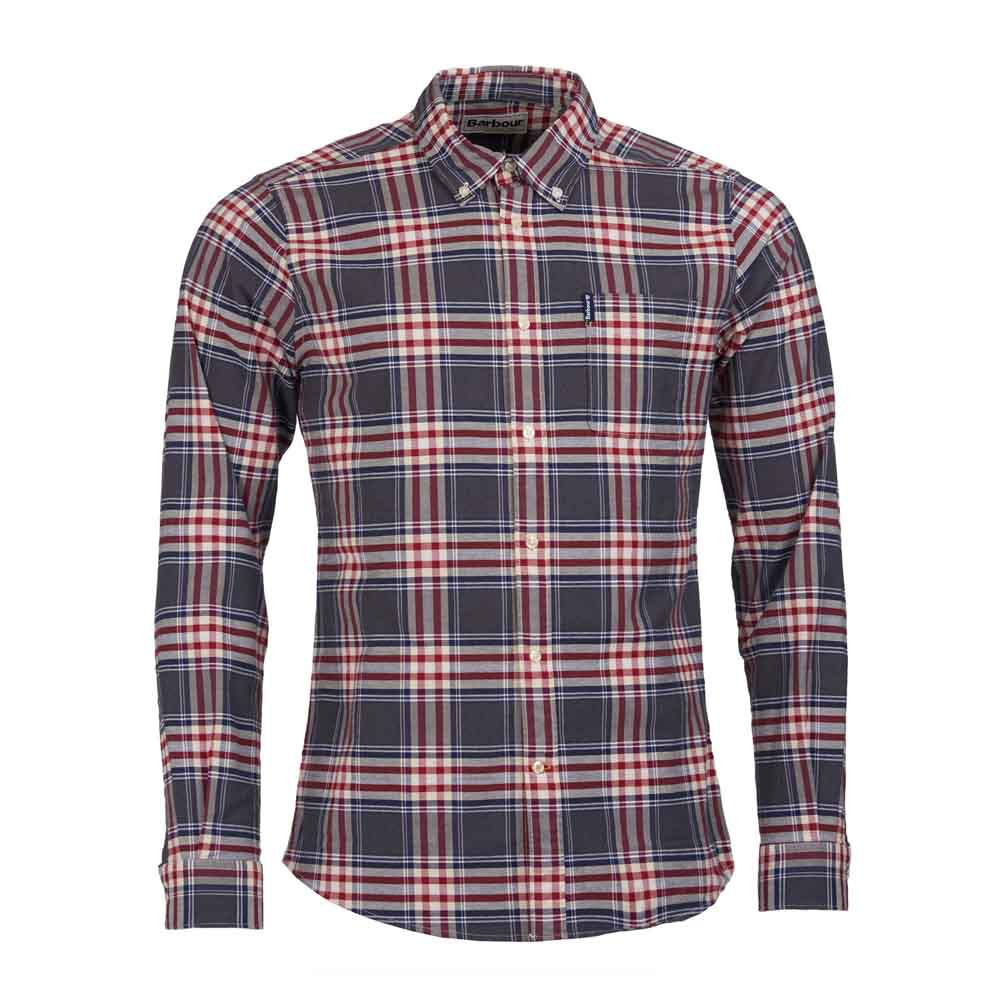BARBOUR HIGHLAND GREY MARL CHECK 11 TAILORED SHIRT