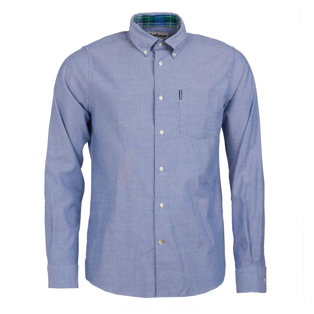 BARBOUR STRETCH DENIM BLUE TWILL 1 TAILORED SHIRT