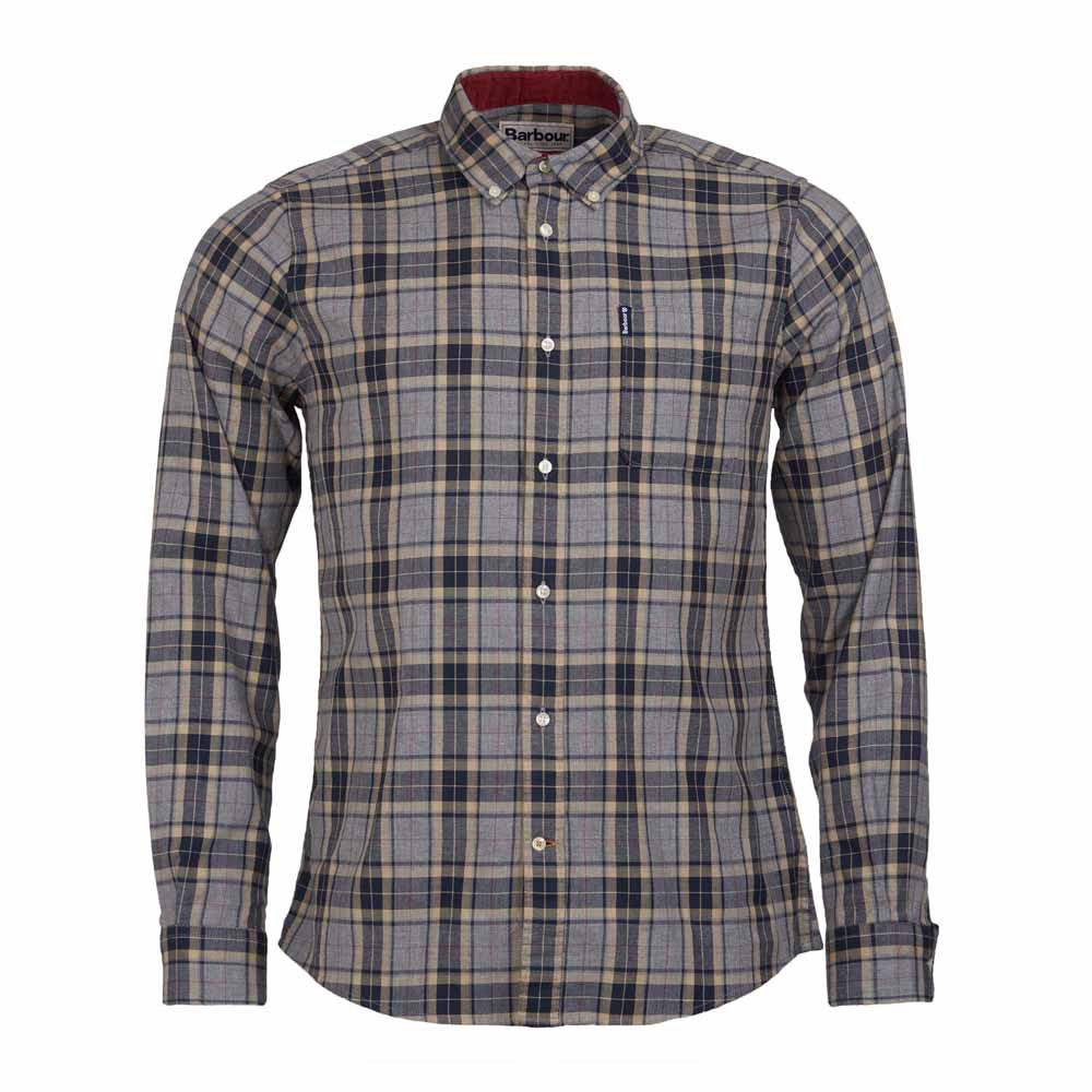 BARBOUR HIGHLAND GREY MARL CHECK 20 TAILORED SHIRT