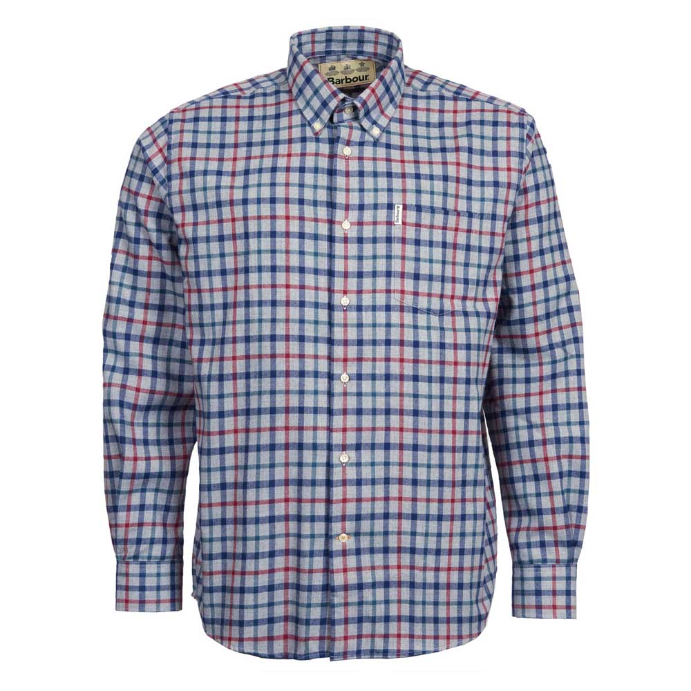 BARBOUR THERMO-TECH COLLAR GREY MARL SHIRT