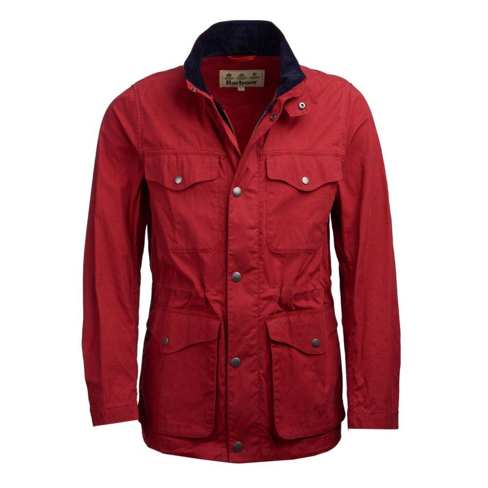 BARBOUR SKIPTON LOBSTER RED CASUAL JACKET