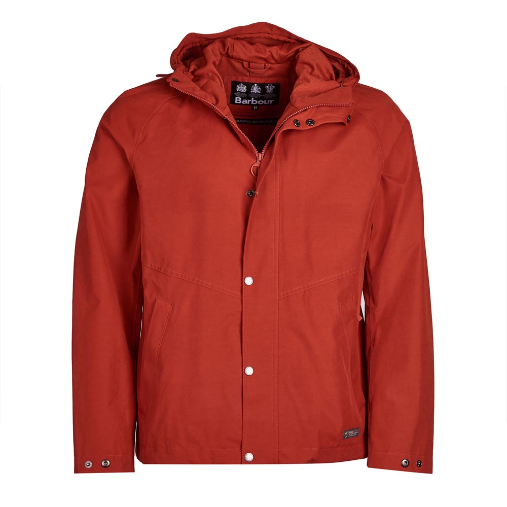 Barbour Charlie Sunset Orange Waterproof Jacket