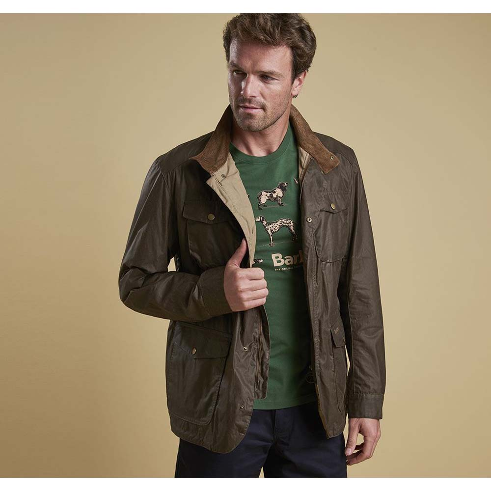 Barbour Ogston Brown Waxed Jacket