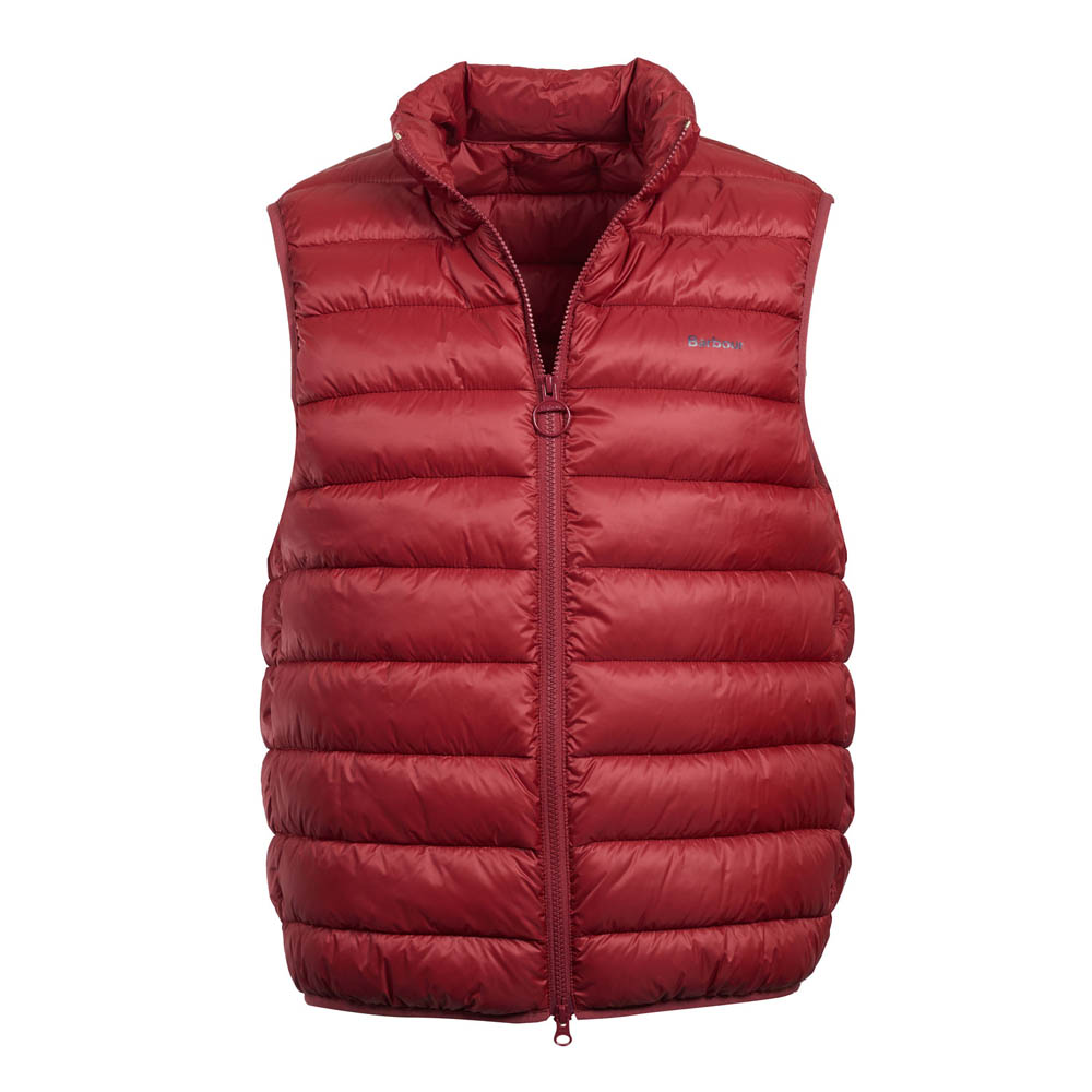 Barbour Bretby Biking Red Gilet