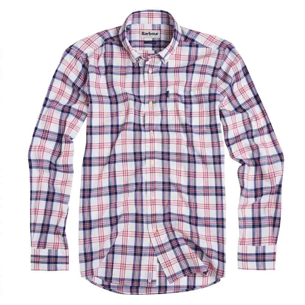 BARBOUR OXFORD RICH RED CHECK 3 TAILORED FIT SHIRT