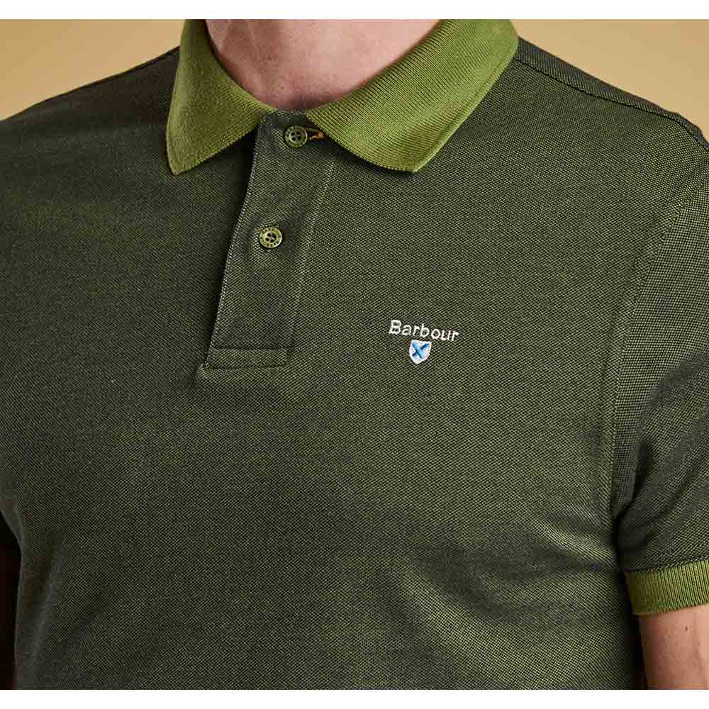 BARBOUR VINTAGE GREEN SPORTS POLO