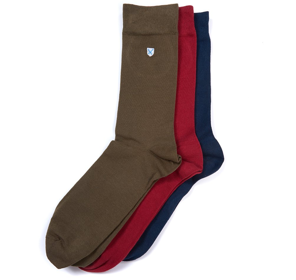 Barbour Crest socks pack of three
