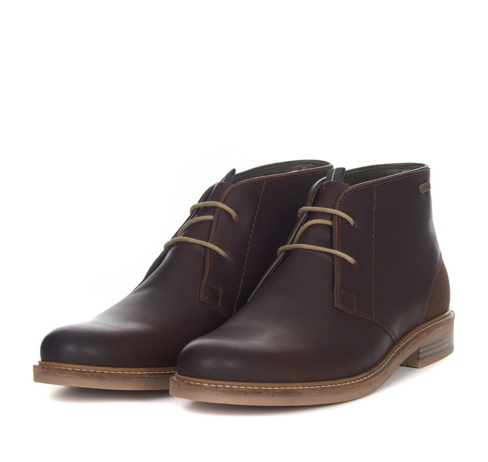 Barbour Capstan beige and brown leather