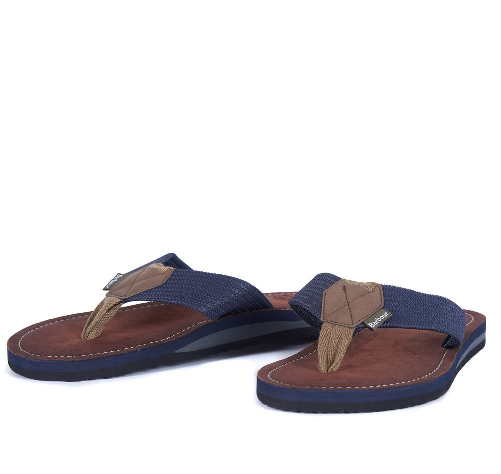 Barbour Toeman Sandals in Navy
