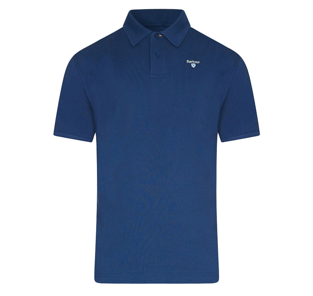 Barbour sports polo in deep blue