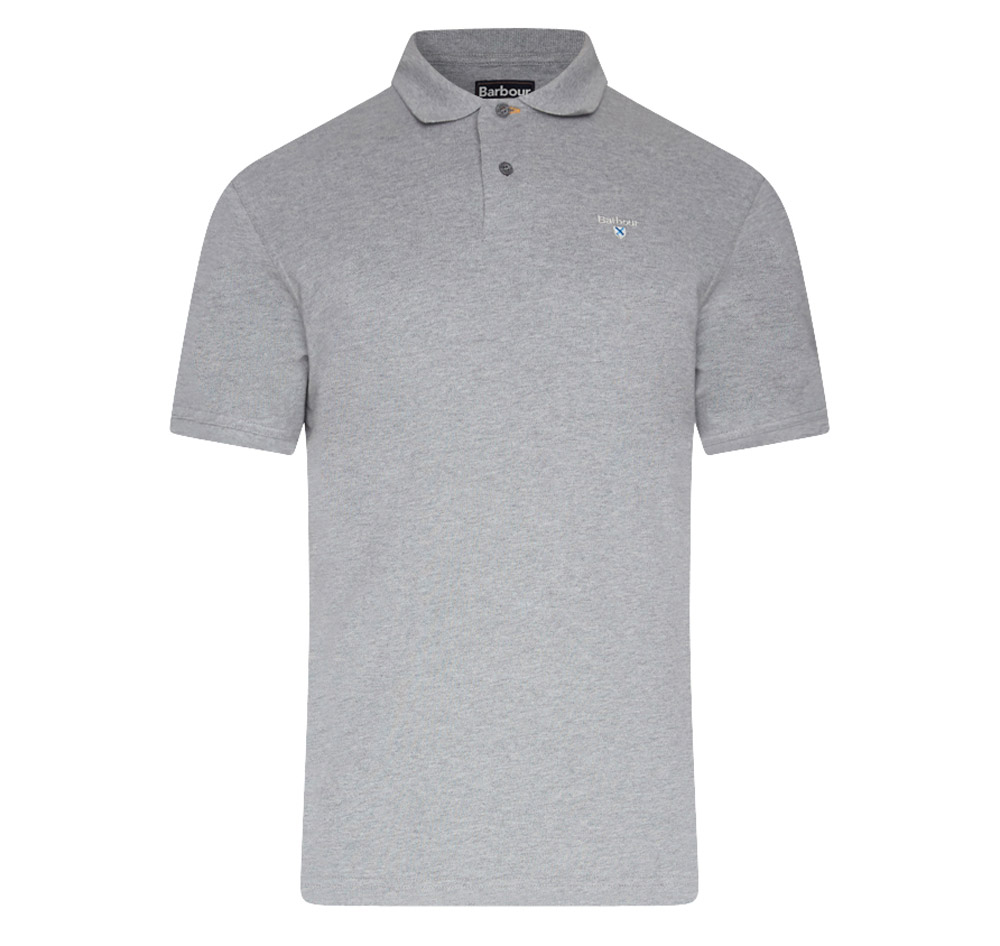 Barbour sports polo grey marl