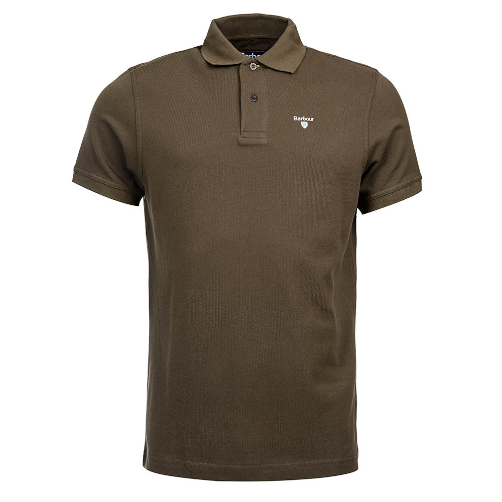Barbour sports polo in dark olive