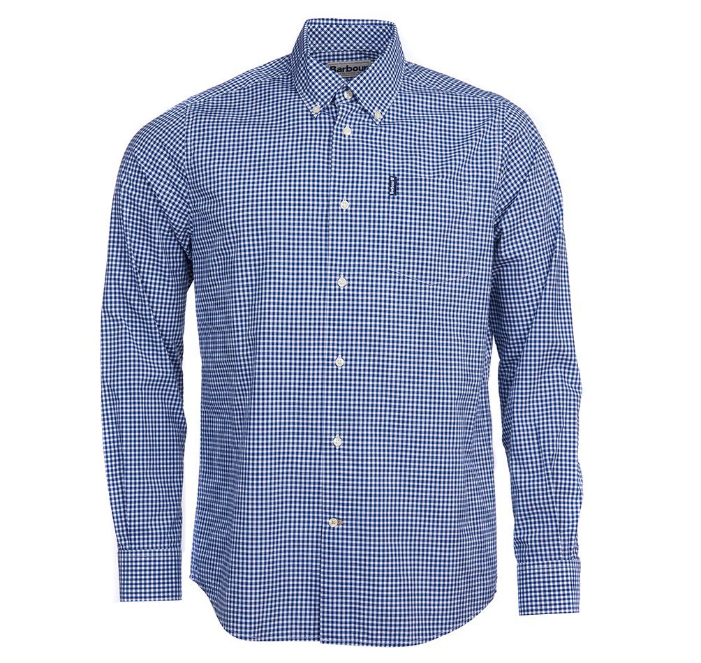 Barbour Gingham blue shirt
