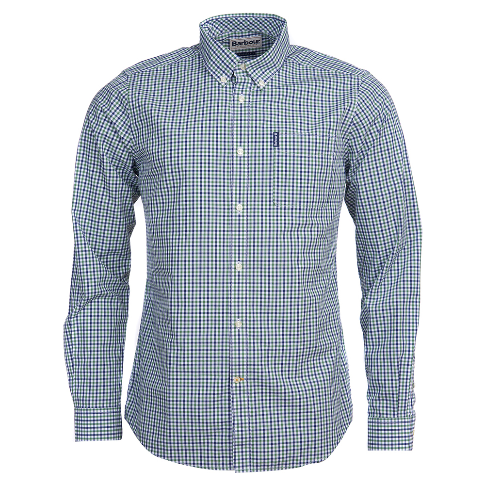 Barbour Gingham tailored shirt in green