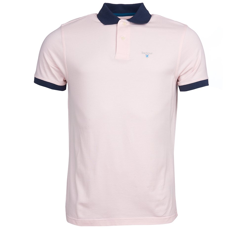 Barbour Lynton Polo shirt in chalk pink