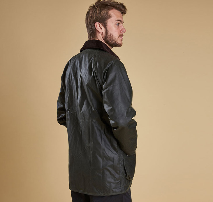 Barbour Beaufort Sage Waxed Jacket