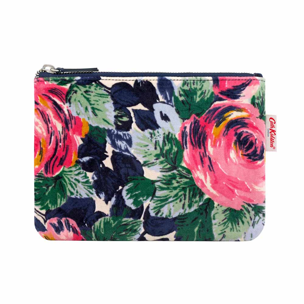 Cath Kidston Oxford Rose Velvet Printed Pouch