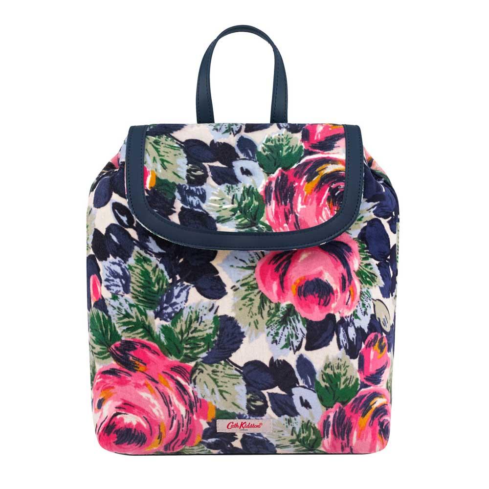Cath Kidston Oxford Rose Small Velvet Backpack
