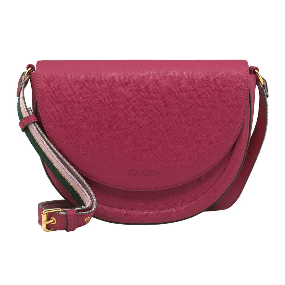 Cath Kidston Stratton Saddle Bag in Berry