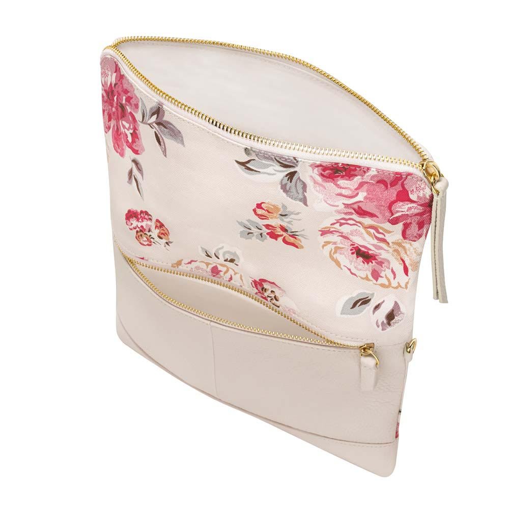 Cath Kidston Brampton Bunch Leather Fold Over Clutch