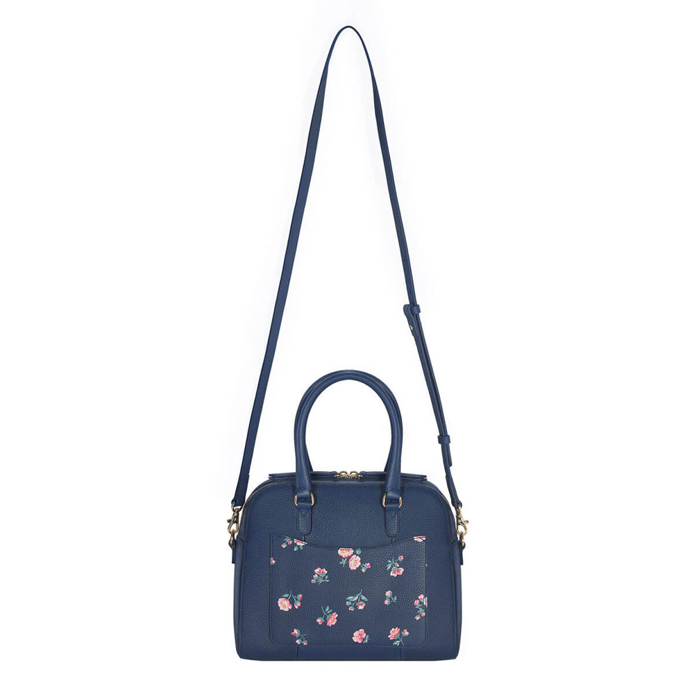 CATH KIDSTON PRINTED MALTBY LEATHER HANDBAG