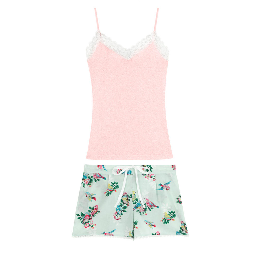 Cath Kidston Spring Birds Vest and Shorts