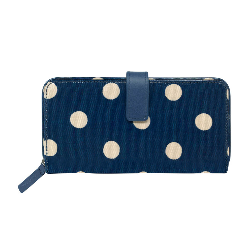 CATH KIDSTON BUTTON SPOT LARGE FOLDED ZIP WALLET