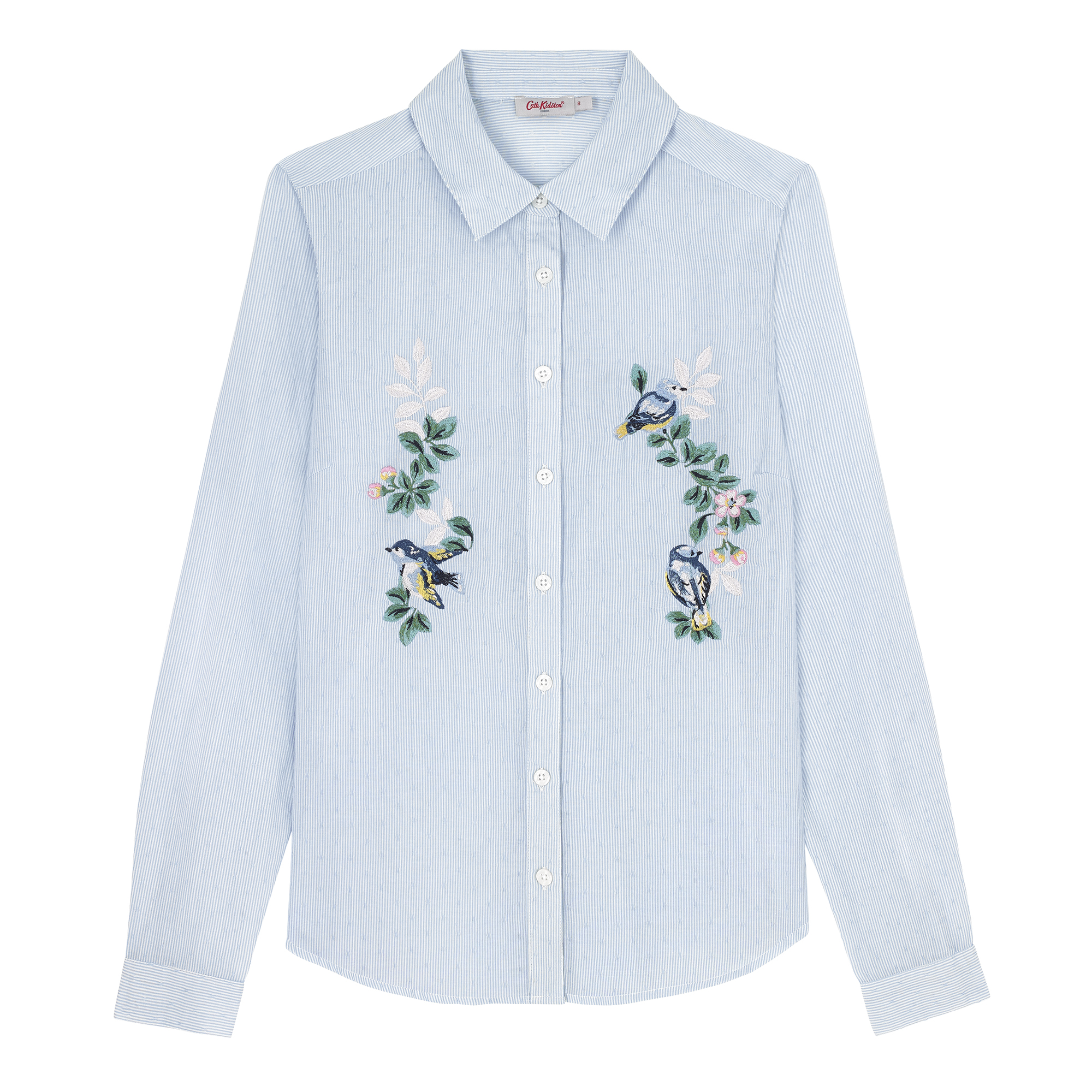 Cath Kidston Spring Birds Cotton Stripe Shirt