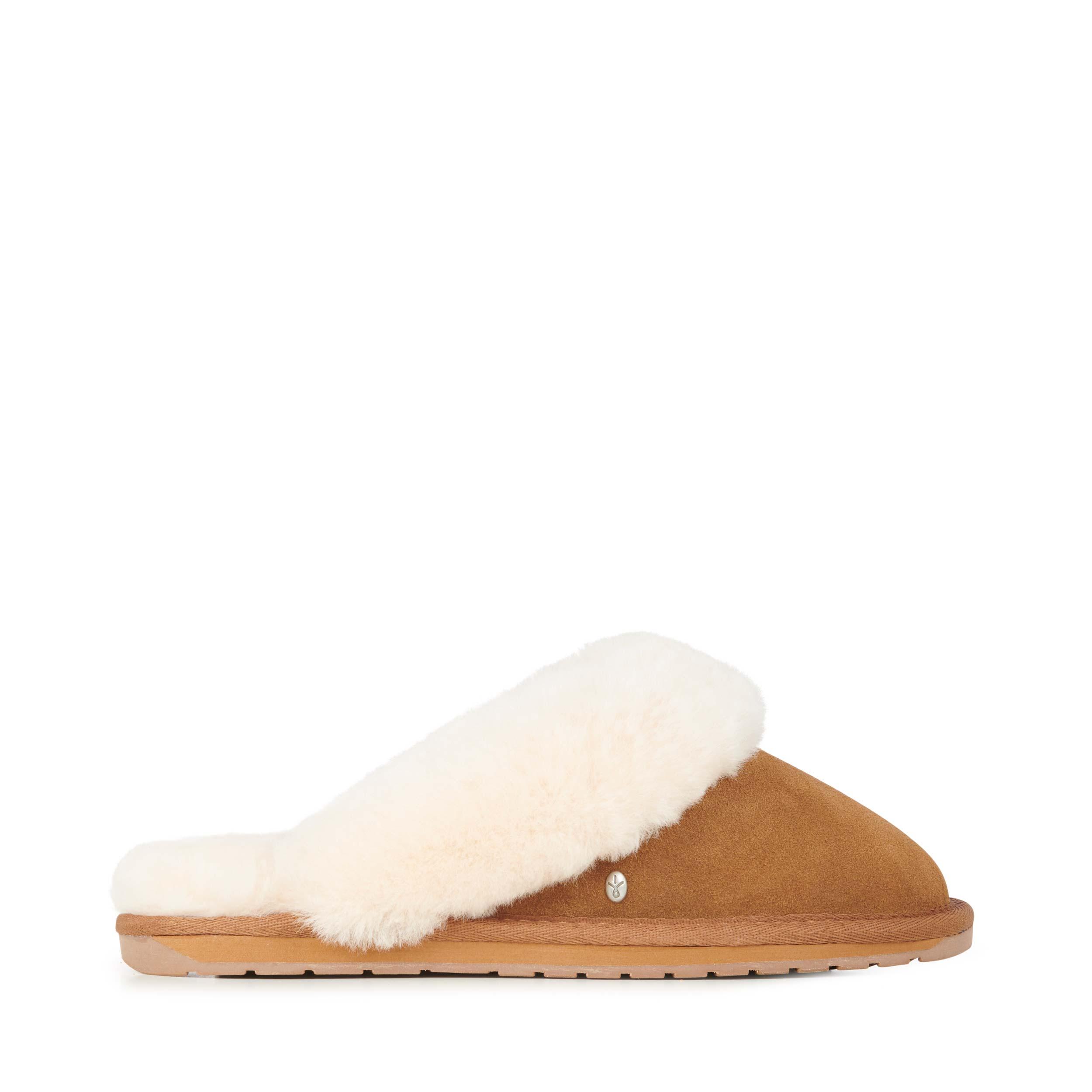 Emu Australia Jolie slippers in Chestnut