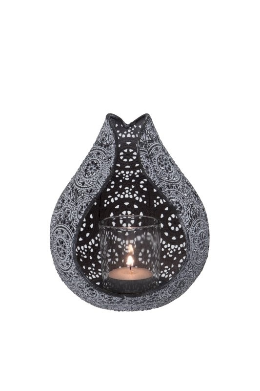 London Ornaments Setta Candle Holder Ash