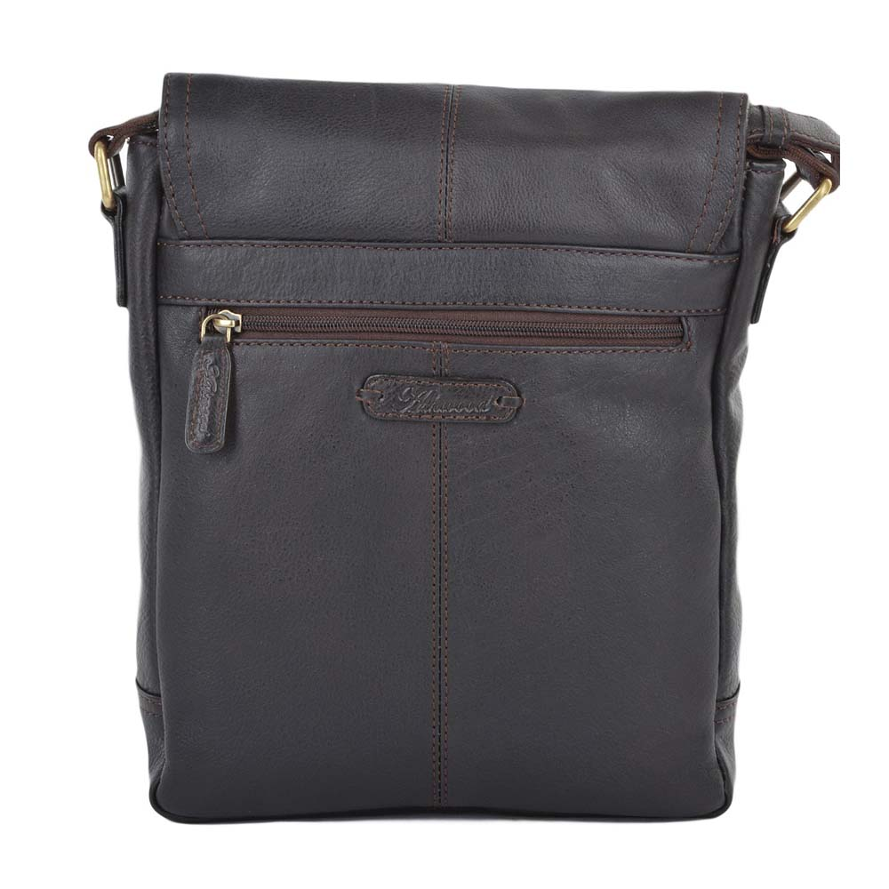 Ashwood Benjamin Messenger Bag in Brown