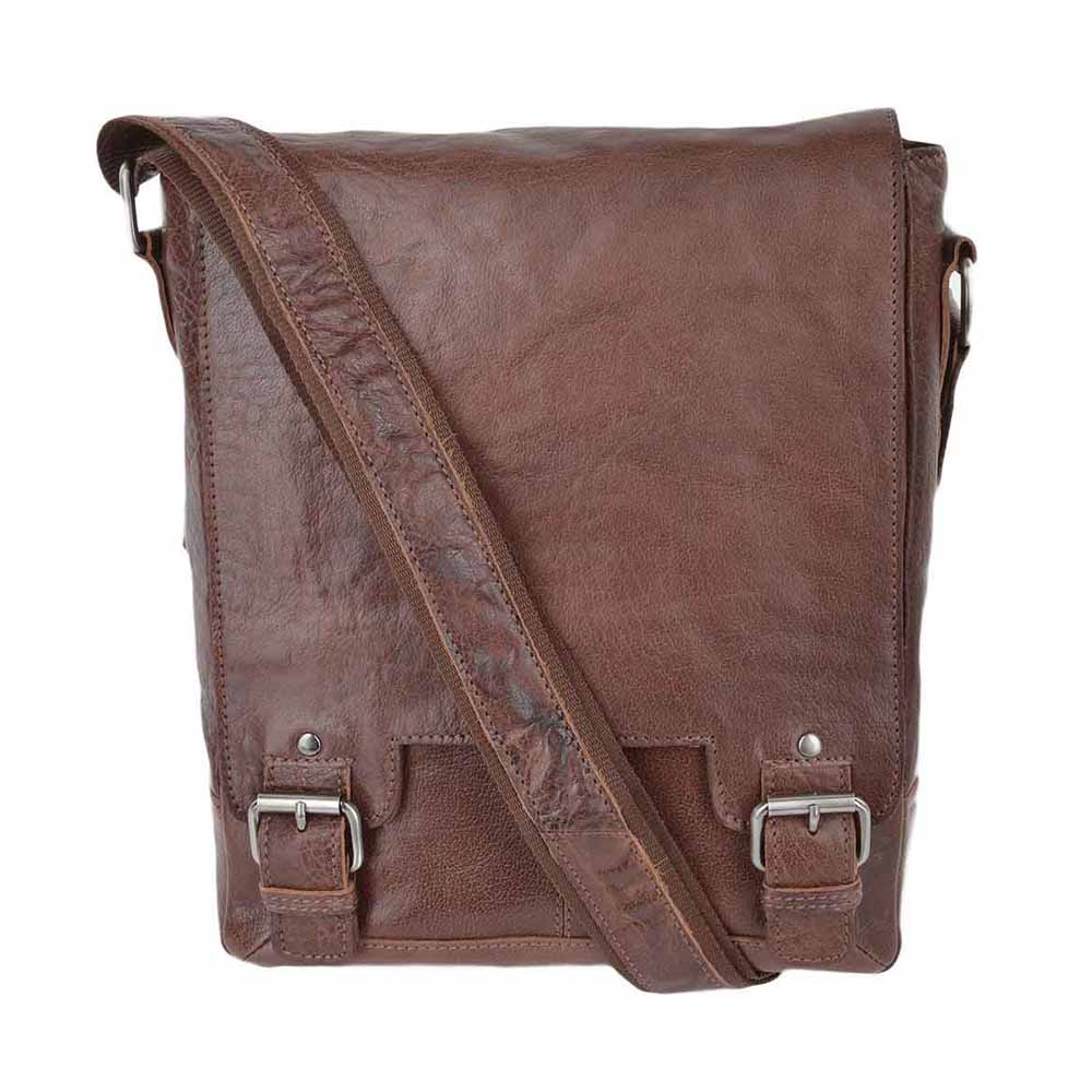 Ashwood 8342 Tan Messenger Bag