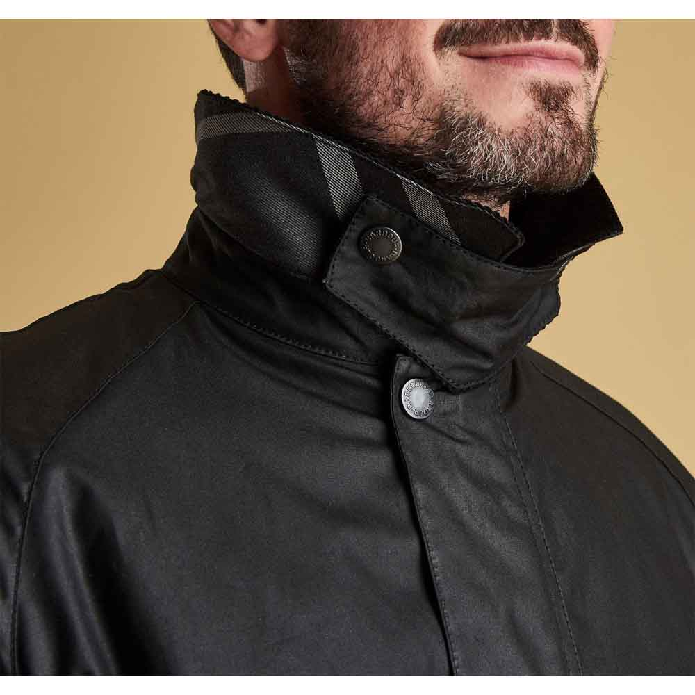 Barbour Strathyre Black Waxed Cotton Jacket